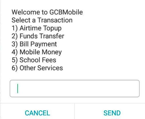 GCB Mobile Banking Screenshot