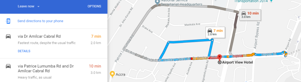 hotels in Accra near the Airport